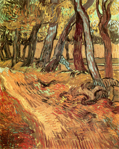 Art Prints of Path in a Wood with Sitting Figure by Vincent Van Gogh