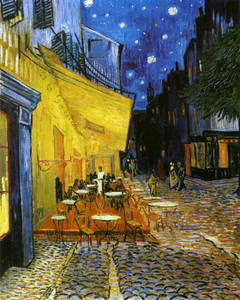 Art Prints of The Cafe Terrace Arles at Night by Vincent Van Gogh