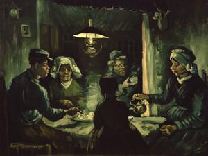 Art Prints of The Potato Eaters, Study by Vincent Van Gogh