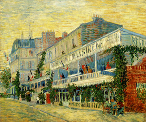 Art Prints of The Restaurant at Sirene at Asnieres, 1887 by Vincent Van Gogh