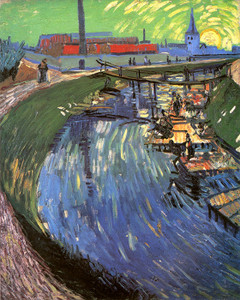 Art Prints of The Rubine du Roi Canal with Women Washing by Vincent Van Gogh