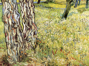 Art Prints of Tree Trunks in the Grass by Vincent Van Gogh