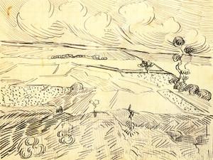 Art Prints of Wheatfields, 1890 by Vincent Van Gogh