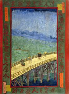 Art Prints of Bridge in the Rain (after Hiroshige) by Vincent Van Gogh