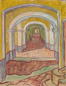 Art Prints of Corridor in the Asylum by Vincent Van Gogh