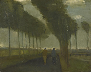 Art Prints of Country Lane with Two Figures by Vincent Van Gogh