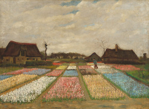 Art Prints of Flower Beds in Holland by Vincent Van Gogh