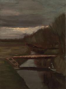 Art Prints of Footbridge Across a Ditch by Vincent Van Gogh