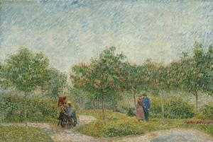 Art Prints of Garden in Montmarte with Lovers by Vincent Van Gogh