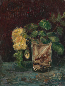 Art Prints of Glass with Yellow Roses by Vincent Van Gogh