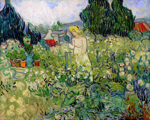 Art Prints of Marguerite Gachet in the Garden, 1890 by Vincent Van Gogh
