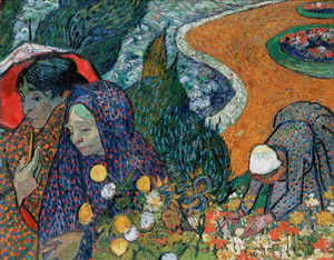 Art Prints of Memory of the Garden at Etten, Ladies of Arles by Vincent Van Gogh