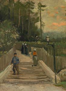 Art Prints of Path in Montmartre by Vincent Van Gogh