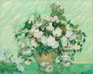 Art Prints of Roses, 1890 by Vincent Van Gogh