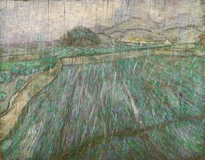 Art Prints of Rain by Vincent Van Gogh