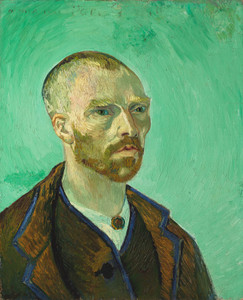 Art Prints of Self Portrait dedicated to Paul Gauguin, 1888 by Vincent Van Gogh
