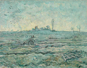 Art Prints of Snow Covered Field with a Harrow (after Millet) by Vincent Van Gogh
