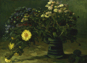 Art Prints of Still Life with a Bouquet of Daisies by Vincent Van Gogh