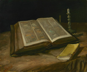 Art Prints of Still Life with Bible by Vincent Van Gogh