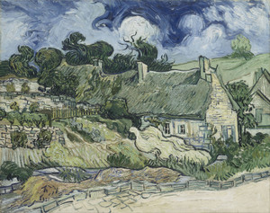 Art Prints of Thatched Cottages at Cordeville by Vincent Van Gogh