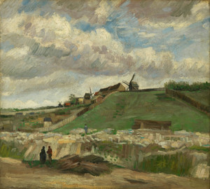 Art Prints of The Hill of Montmartre with Stone Quarry II by Vincent Van Gogh