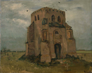 Art Prints of The Old Church Tower at Nuenen by Vincent Van Gogh