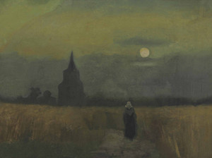 Art Prints of The Old Tower at Dusk by Vincent Van Gogh