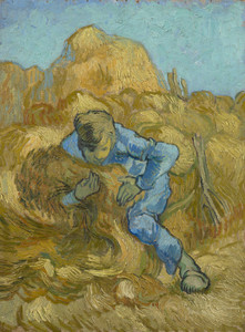 Art Prints of The Sheaf Binder (after Millet) by Vincent Van Gogh