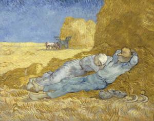 Art Prints of The Siesta (after Millet) by Vincent Van Gogh