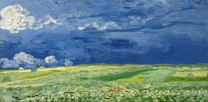 Art Prints of Wheatfield Under Thunderclouds by Vincent Van Gogh