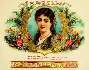 Art Prints of Isabella Cigars, Vintage Cigar Label