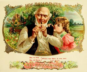 Art Prints of My Favorite Cigars, Vintage Cigar Label