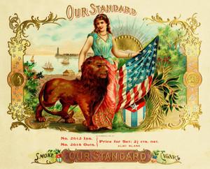 Art Prints of Our Standard Cigars, Vintage Cigar Label