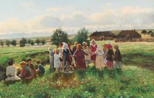 Art Prints of Children at Play by Vladimir Egorovich Makovsky