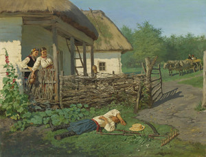 Art Prints of A Rude Awakenng by Vladimir Egorovich Makovsky