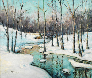 Art Prints of Blue Mountain Brook by Walter Baum