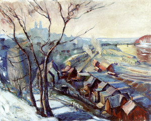 Art Prints of Lafayette College Hill, Easton by Walter Baum