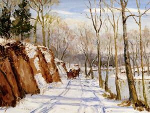 Art Prints of Winter, Perkiomen Valley by Walter Baum