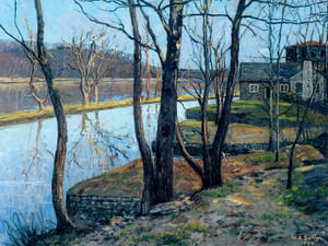Art Prints of The Delaware River Canal by Walter Baum