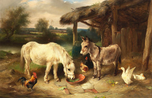 Art Prints of A Corner of the Farm by Walter Hunt