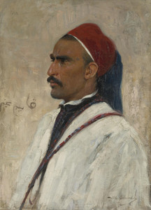 Art Prints of Portrait of an Arab by Wilhelm Kuhnert