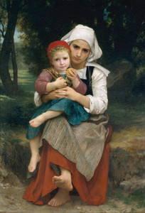 Art Prints of Breton Brother and Sister by William Bouguereau