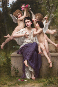 Art Prints of A Dream of Spring by William Bouguereau
