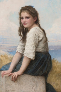 Art Prints of At the Seaside by William Bouguereau