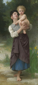 Art Prints of Brother and Sister by William Bouguereau