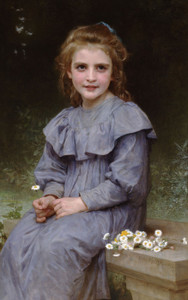 Art Prints of Daisies by William Bouguereau