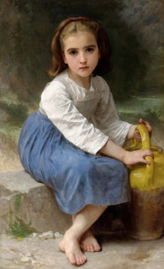 Art Prints of Girl with a Jug by William Bouguereau