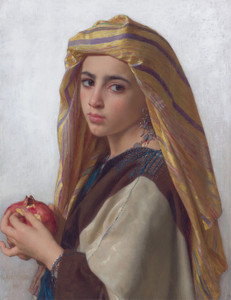 Art Prints of Girl with Pomegranate by William Bouguereau