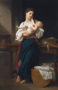 Art Prints of Premieres Caresse by William Bouguereau