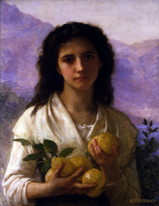 Art Prints of Girl Holding Lemons by William Bouguereau